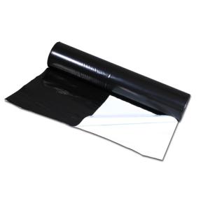 Reflekterande svart/vit plast 1 meter