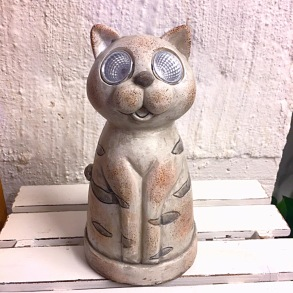 Solcellslampa Katt