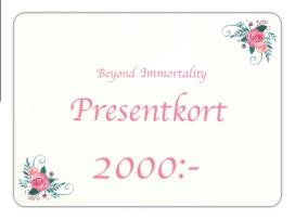 Presentkort 2000:-