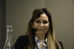 Claudia Hanson, Arbetsförmedlingen Östra Södertörn var föredragande på frukostmöte om AFs nya organisation.