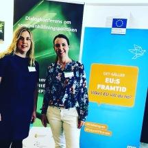 Johanna Thagemark, verksamhetsutvecklare och Annica Falk, projektchef berättar om MIA-projektet i olika forum