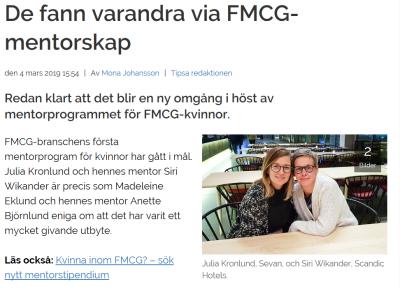 De fann varandra via FMCG-mentorskap