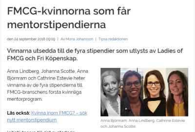 Anna Björnram, Anna Lindberg, Cathrine Estevie och Johanna Scotte.