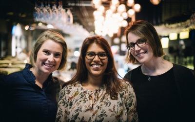 Ebba Prejer, Anna Lindberg och Cathrine Estevie var tre av våra adepter i första mentorprogrammet.