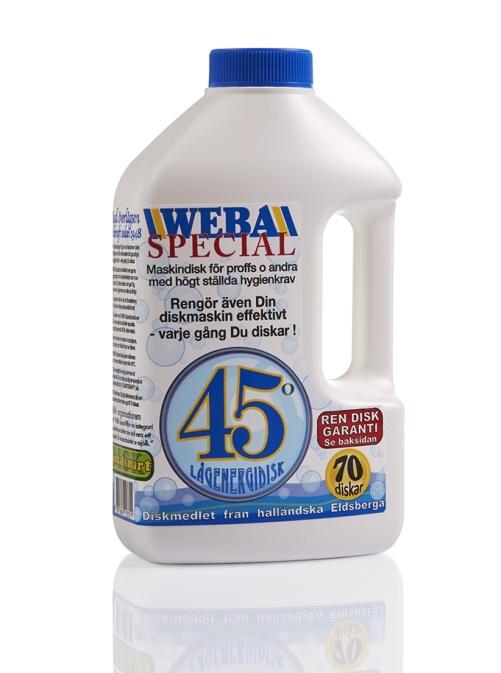 WEBA Special diskpulver - pulver maskindiskmedel för renare disk och ren diskmaskin