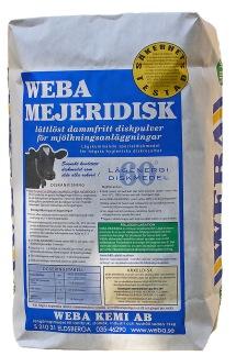 WEBA MEJERIDISK avsett för mjölkproducenter. Säck om 15Kg. KLIMATSMART DISK! - WEBA MEJERIDISK