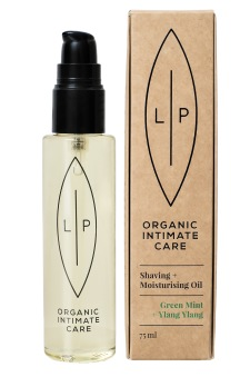 Lip Intimate Care Shaving + Moisturising Oil, Green Mint + Ylang Ylang