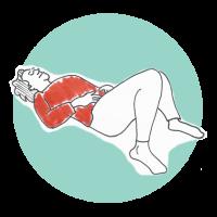 Avslappning med fokus balansering av hormoner. Illustration Lena Nyberg