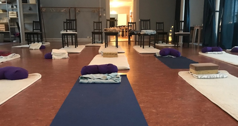 Yoga för företag. Lokalen i Falun är redo för en ny grupp.