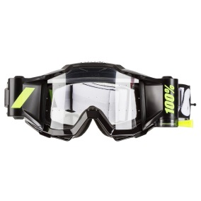 100% GOGGLE THE ACCURI FORECAST BLACK TORNADO ANTI-FOG -
