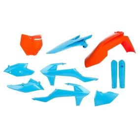 ACERBIS PLASTIC KIT TLD LIMITED EDITION FULL-KIT KTM SX 125/144/150/250, SX-F 250/350/450 16-18, ORANGE/BLAU -