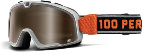 100% Barstow Goggle OSFA - Red Mirror Lens -