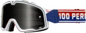 100% Barstow White Goggle - Smoke Lens -