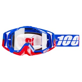 100% GOGGLE THE RACECRAFT REPUBLIC - CLEAR ANTI-FOG