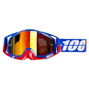 100% GOGGLE THE RACECRAFT REPUBLIC - TINTED RED ANTI-FOG