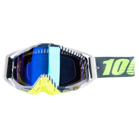100% GOGGLE THE RACECRAFT ECLIPSE - MIRROR BLUE ANTI-FOG