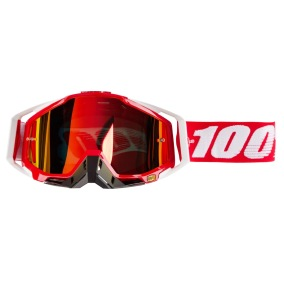 100% GOGGLE THE RACECRAFT FIRE RED - MIRROR RED ANTI-FOG