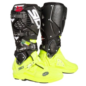 SIDI MX BOOTS CROSSFIRE 3 SRS TC222 - BLACK/YELLOW FLUO - 41