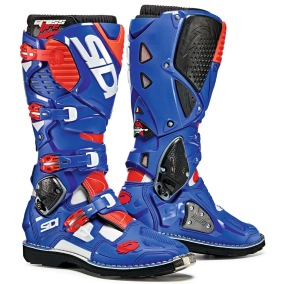SIDI MX BOOTS CROSSFIRE 3 BLUE/WHITE/FLUO RED - 40