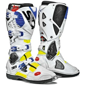 SIDI MX BOOTS CROSSFIRE 3 WHITE/BLUE/FLUO YELLOW - 40