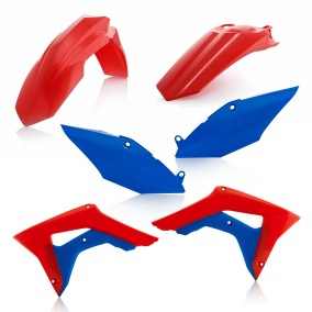 ACERBIS PLASTIC KIT HONDA CRF 450 17-18, CRF 250 2018, RED/BLUE