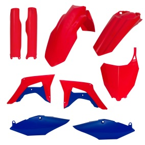 ACERBIS PLASTIC KIT FULL-KIT HONDA CRF 450 17-18, CRF 250 2018, RED/BLUE