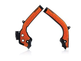 ACERBIS FRAME GUARD X-GRIP KTM SX 125-250, SX-F 250-450, EXC 125-300/EXC-F 250-500, BLACK/ORANGE