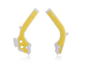 ACERBIS FRAME GUARD X-GRIP HUSQVARNA TC 125, FC/TE/FE 250/350/450, WHITE/YELLOW
