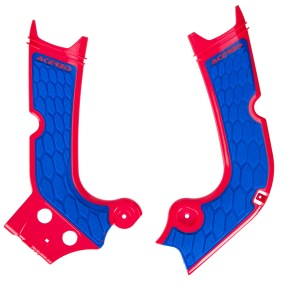 ACERBIS FRAME GUARD X-GRIP HONDA CRF 250/450, RED/BLUE