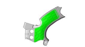 ACERBIS FRAME GUARD X-GRIP KAWASAKI KXF 250, GREEN/GREY