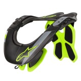ALPINESTARS NECK BRACE BNS TECH-2 BLACK/YELLOW FLUO