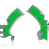 ACERBIS FRAME GUARD X-GRIP KAWASAKI KXF 450, SILVER/GREEN
