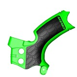 ACERBIS FRAME GUARD X-GRIP KAWASAKI KXF 250, GREEN/BLACK