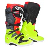 ALPINESTARS MX BOOTS TECH 7 FLUO YELLOW/FLUO RED/GREY/BLACK