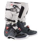ALPINESTARS MX BOOTS TECH 7 DARK GREY/LIGHT GREY/RED FLUO