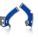 ACERBIS FRAME GUARD X-GRIP YAMAHA YZF 250/450, WRF 450, BLUE/GREY