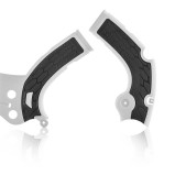 ACERBIS FRAME GUARD X-GRIP YAMAHA YZF 250/450, WRF 450, BLACK/WHITE