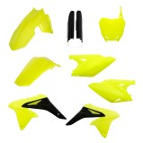 ACERBIS PLASTIC KIT FULL-KIT YAMAHA YZF 250 2018, NEON YELLOW/BLACK