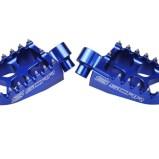 SCAR FOOT PEGS EVOLUTION RACING ALUMINIUM, BLUE, HUSQVARNA FE/FC/TE/TC, KTM SX/SX-F/EXC/EXC-F