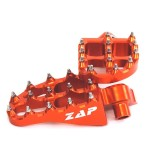 ZAP FOOT PEGS E-PEG ORANGE, INCL. SPRINGS, KTM, HUSQVARNA, HUSABERG, SHERCO