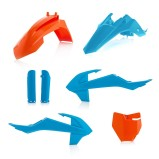 ACERBIS PLASTIC KIT FULL-KIT KTM SX 65 16-18, ORANGE/BLUE
