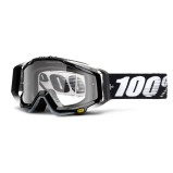 100% GOGGLE THE RACECRAFT ABYSS BLACK - CLEAR ANTI-FOG