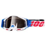 100% GOGGLE THE RACECRAFT FOURTH - MIRROR SILVER ANTI-FOG