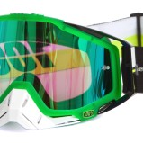 100% GOGGLE THE RACECRAFT SIMBAD - MIRROR GREEN ANTI-FOG