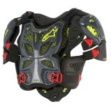 ALPINESTARS CHEST PROTECTOR A-10 FULL ANTHRACITE/BLACK/RED