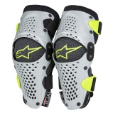 ALPINESTARS KNEE GUARD SX-1 SILVER/YELLOW (FOR KIDS)
