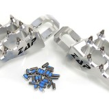 ZAP FOOT PEGS E-PEG SILVER, HONDA CR/CRF 125-450 02-