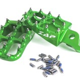 ZAP FOOT PEGS E-PEG GREEN, KAWASAKI KXF 250/450
