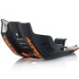 ACERBIS SKID PLATE KTM SX-F 450, HUSQVARNA FC 450, FE 450/501, BLACK/ORANGE