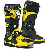 SIDI KIDS MX BOOTS FLAME BLACK/FLUO YELLOW (FOR KIDS)